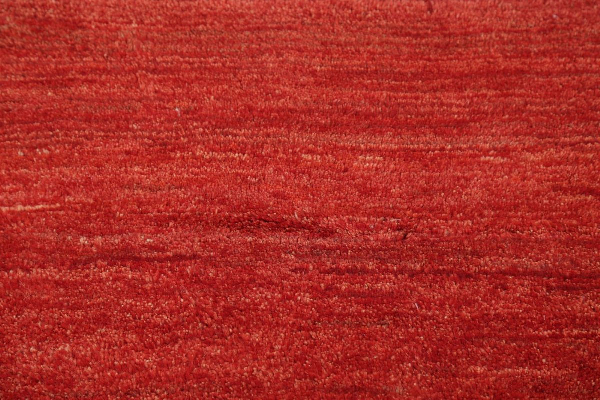 Modern Solid Red 2x6 Gabbeh Shiraz Persian Rug Runner