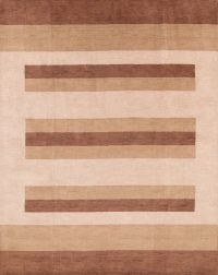 Striped Modern 8x10 Gabbeh Oriental Area Rug