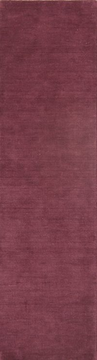 Purple 2x10 Gabbeh Indian Oriental Rug Runner