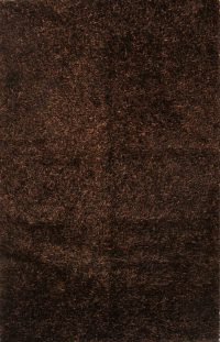 Dark Brown Modern Shaggy Shag Oriental Area Rug 5x7