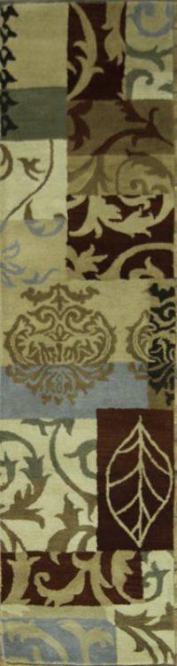 Hand-Tufted Oushak Oriental Runner Rug 3x10