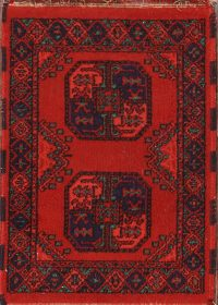 Geometric Balouch Afghan Oriental Rug 2x3