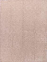 Solid Ivory 7x10 Gabbeh Oriental Area Rug