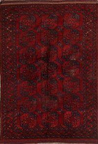 Antique Geometric Balouch Afghan Oriental Area Rug 8x11