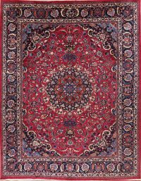 Floral Medallion Mashad Persian Area Rug 9x12