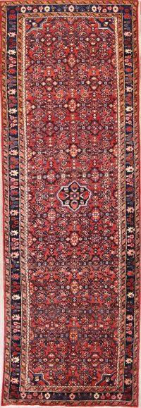 Traditional Floral Hamedan Persian Rug Runner 4x10