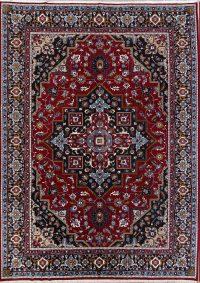 Floral Red Heriz Persian Area Rug Wool 10x13