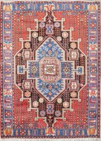 Hand-Knotted Nahavand Hamedan Persian Area Wool Rug 5x7