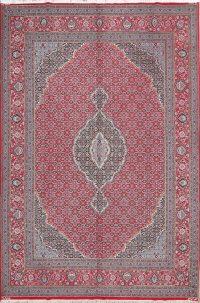 Red Geometric Bidjar Persian Area Rug 10x13