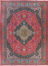 Pink Traditional Floral Kerman Persian Area Rug 10x13