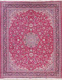 Pink Floral Kashan Persian Area Rug 10x12