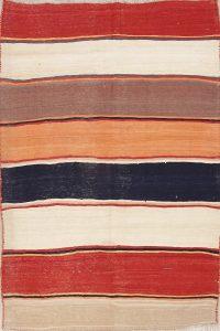 Hand-Woven Striped Kilim Shiraz Persian Area Rug 6x9