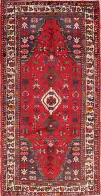 Red Tribal Bakhtiari Persian Runner Rug 3x6