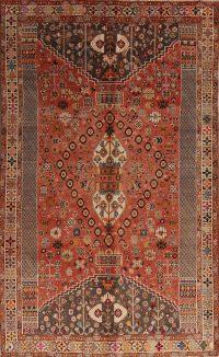 Red Tribal Kashkoli Persian Area Rug 6x9