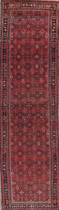 Antique Hamedan Persian Runner Rug 4x15