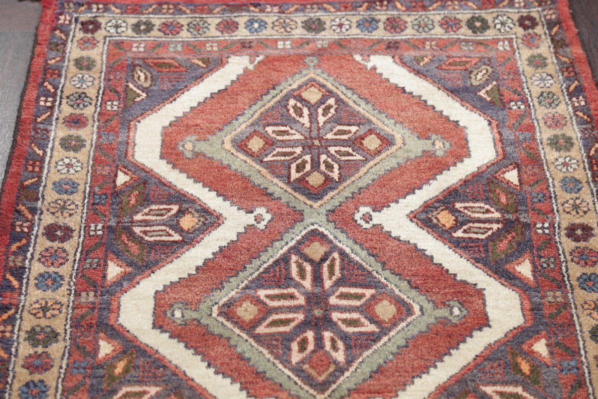 Geometric Hamedan Persian Runner Rug 3x10