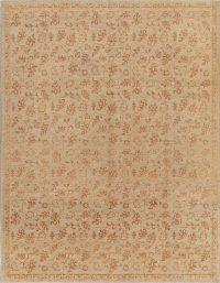 Beige Floral Oushak Oriental Area Rug 9x11