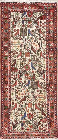 Animal Pictorial Nahavand Hamedan Persian Runner Rug 3x6