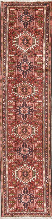 Geometric Tribal Gharajeh Persian Runner Rug 2x10