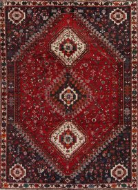 Red Tribal Geometric Kashkoli Persian Area Rug 7x10