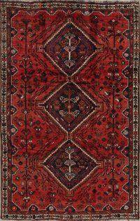 Red Tribal Geometric Shiraz Persian Area Rug 6x9