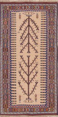 Geometric Kilim Shiraz Persian Runner Rug 3x6