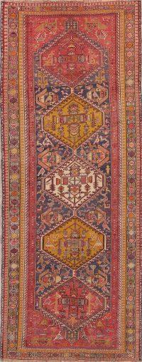 Hand-Woven Tribal Kilim Shiraz Persian Runner Rug Wool 4x9