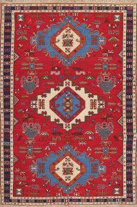 Hand-Woven Geometric Kilim Shiraz Persian Area Rug Wool 7x10