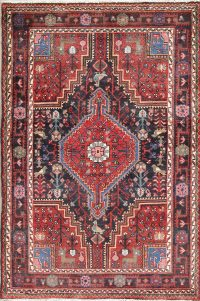 Hand-Knotted Tribal Zanjan Persian Area Rug Wool 4x5