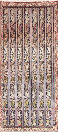 Hand-Knotted Moharramat Shahreza Persian Runner Rug Wool 3x7