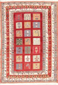 Hand-Woven Red Tribal Kilim Shiraz Persian Rug Wool 3x4