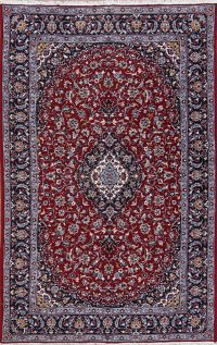 Floral Red Kashan Turkish Oriental Area Rug Wool 6x10