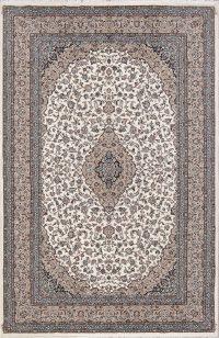 Floral Ivory Oushak Turkish Oriental Area Rug Wool 7x10