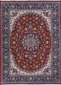 Floral Red Tabriz Turkish Oriental Area Rug Wool 7x9