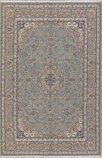 Floral Green Oushak Turkish Oriental Area Rug Wool 6x10