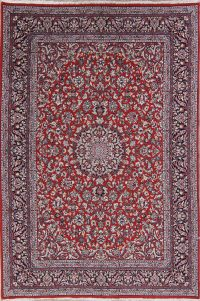 All-Over Floral Red Oushak Turkish Oriental Area Rug Wool 6x10