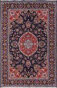 Floral Navy Blue Oushak Turkish Oriental Area Rug Wool 6x10