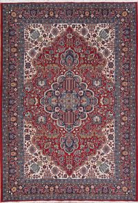 Geometric Red Oushak Turkish Oriental Area Rug Wool 6x9
