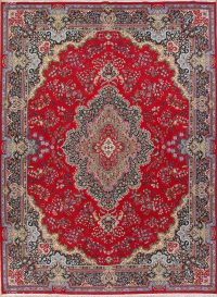 Floral Red Oushak Turkish Oriental Area Rug Wool 10x13