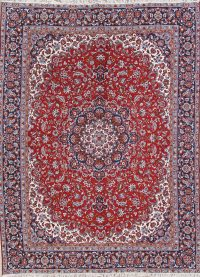 Floral Red Najafabad Turkish Oriental Area Rug Wool 9x12