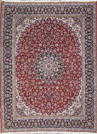Floral Red Najafabad Isfahan Turkish Oriental Area Rug Wool 10x12