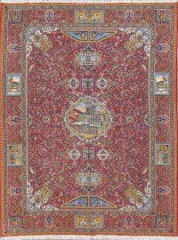 Floral Pictorial Red Kashmar Turkish Oriental Area Rug Wool 10x12