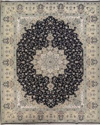 Floral Black Oushak Turkish Oriental Area Rug 10x13