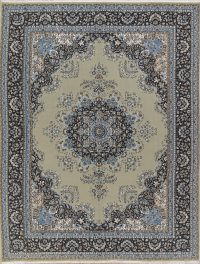 Floral Green Oushak Turkish Oriental Area Rug 9x13