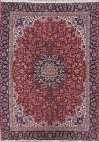 Floral Red Najafabad Isfahan Turkish Oriental Area Rug Wool 9x12