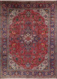 Geometric Tabriz Persian Hand-Knotted Area Rug Wool 8x11