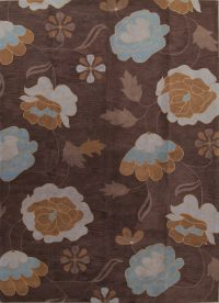 Hand-Tufted Floral Oushak Agra Oriental Area Rug 11x16