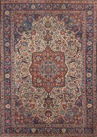 Antique Floral Khoy Tabriz Persian Area Rug 7x10