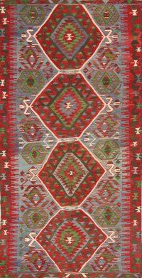 5x10 Kilim Vegetable Dye Russian Oriental Area Rug