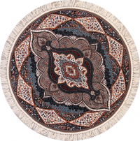 Soft Pile Round 6x6 Tabriz Persian Area Rug